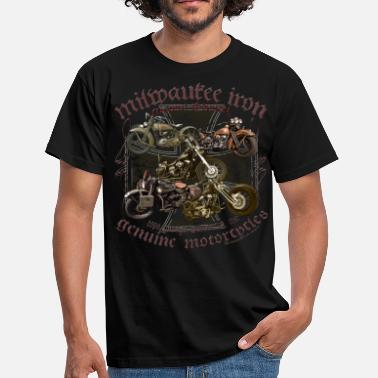 Motorcycle Milwaukee Motorcycles Choppers Biker - Männer T-Shirt