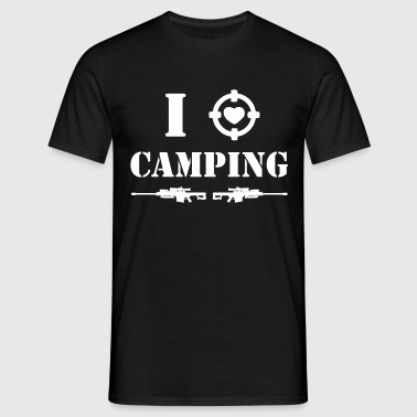 i love camping - white - T-shirt Homme