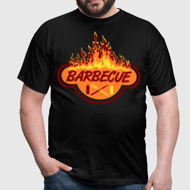 barbecue_flame_logo - T-shirt Homme