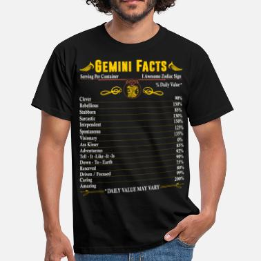 Gemini Gemini Facts Zodiac - Men's T-Shirt