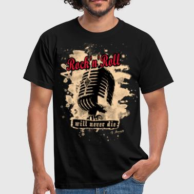 Rock N Roll Rock-n-Roll Microphone - red - Männer T-Shirt