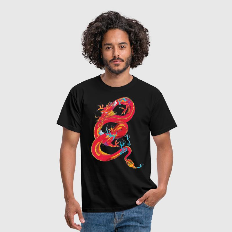 dragon rouge - T-shirt Homme