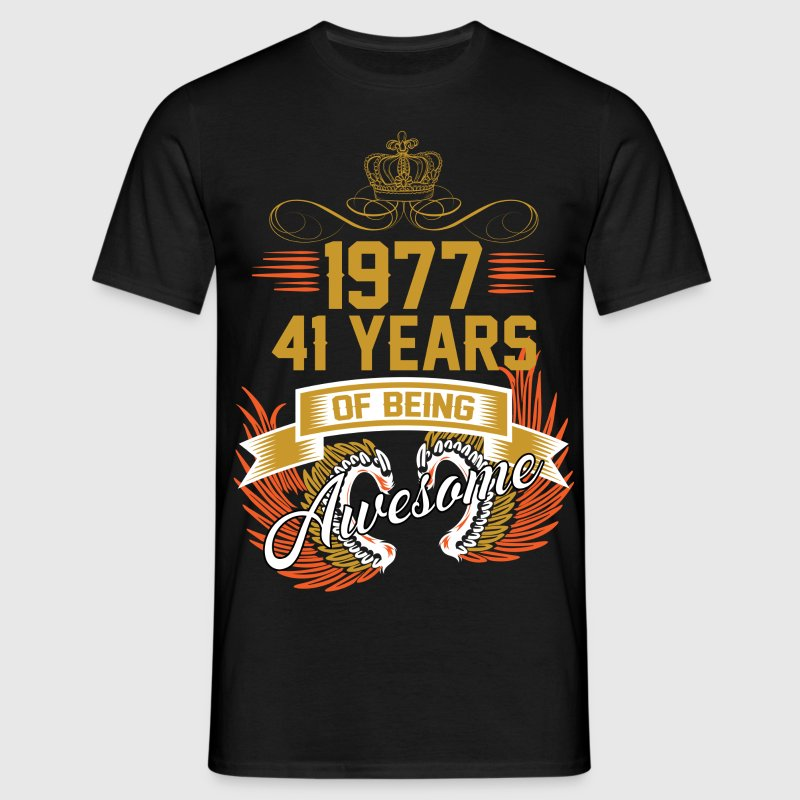 1977 41 Years Of Being Awesome - Men's T-Shirt