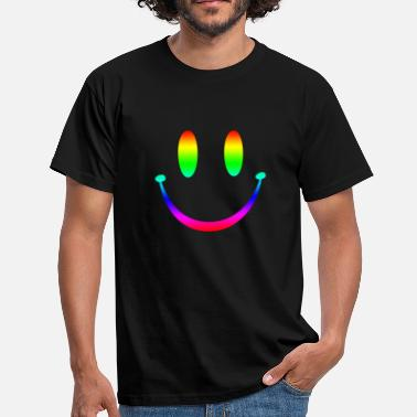 Rave Rainbow Smiley 3 - Men's T-Shirt