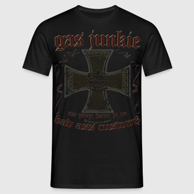 Gas Junkie iron cross - Männer T-Shirt