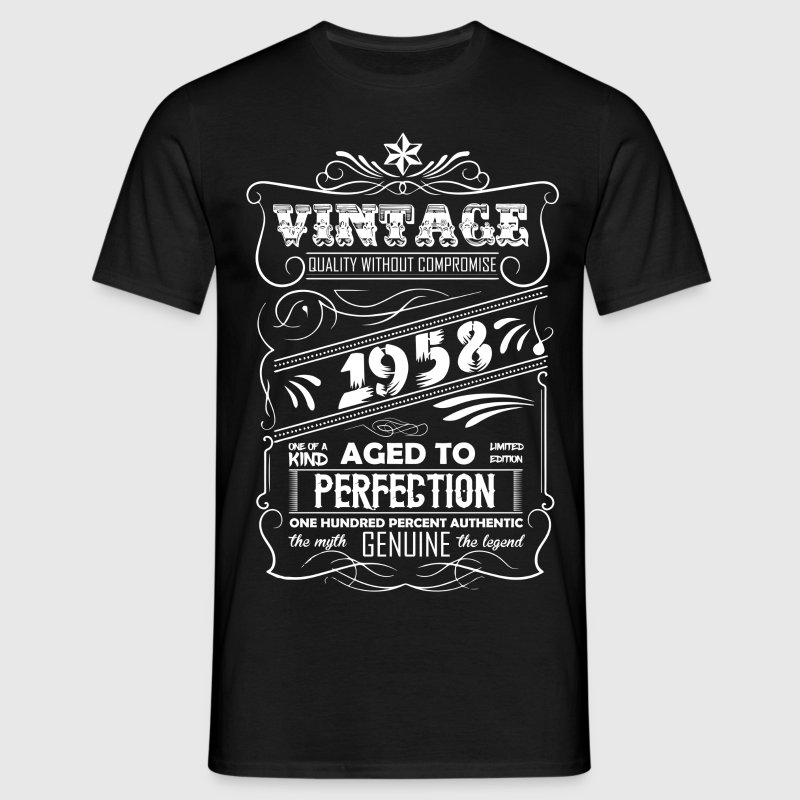 Vintage Aged To Perfection 1958 - Men's T-Shirt