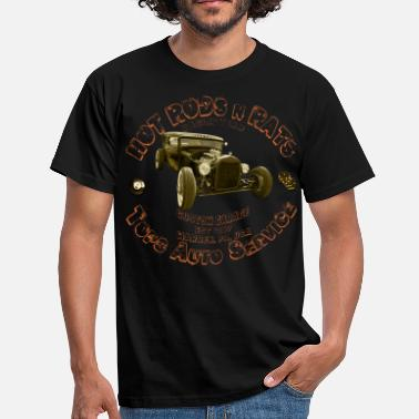Muscle Garage hot rods rats custom garage racing - Men's T-Shirt