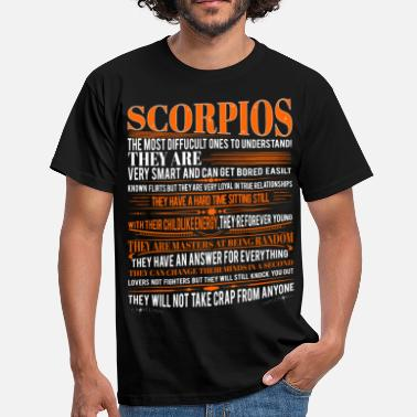 Zodiac Scorpio Scorpios Difficult Ones To Understand Zodiac  - Men's T-Shirt