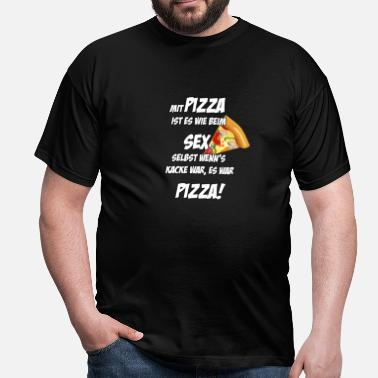 Kacken Sex Pizza - Männer T-Shirt