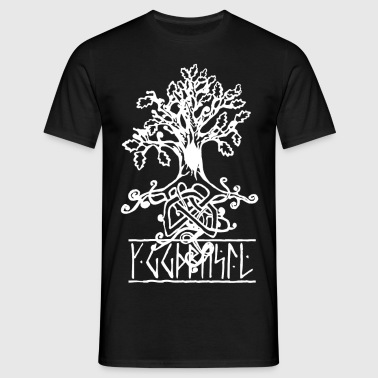 yggdrasil the norse tree of life  - Men's T-Shirt
