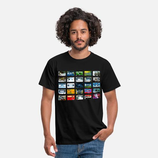 Retro T-Shirts - Dead Tapes - Men's T-Shirt black
