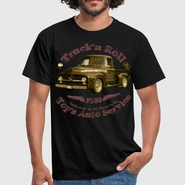 truck n roll 1955 f100 pickup vintage shirt Matic - Men's T-Shirt