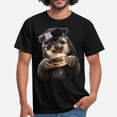 Sloths BURGER COP - Men's T-Shirt