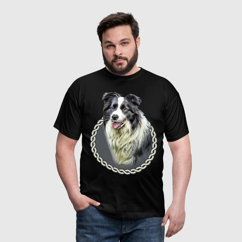 Border Collie 001 - Men's T-Shirt