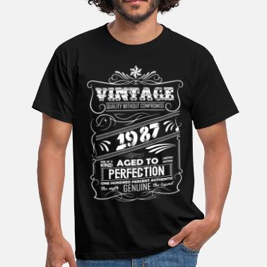 Premium Vintage 1987 Aged To Perfection Vintage Aged To Perfection 1987 - Men's T-Shirt