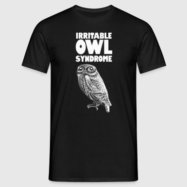 Irritable Owl. Funny pun - Men's T-Shirt