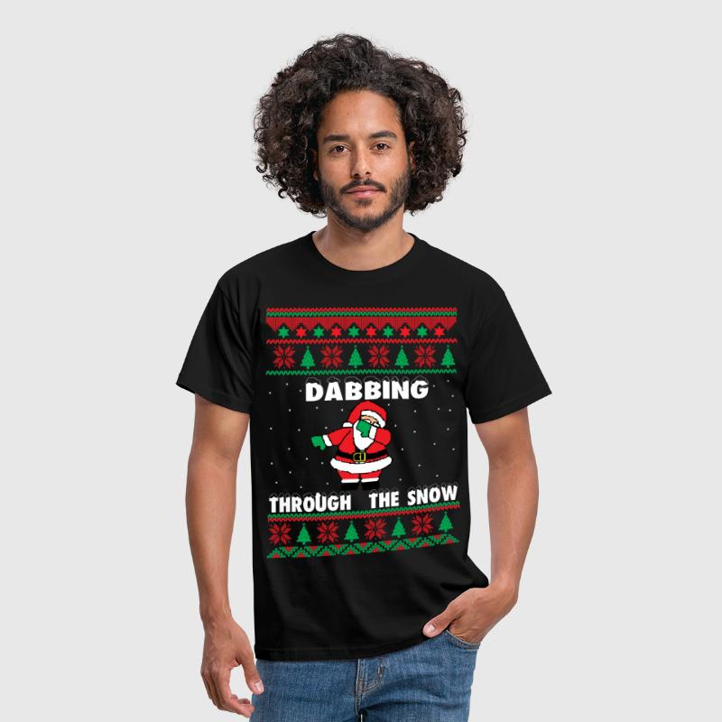 Dab Santa Dabbing Ugly Christmas Sweater - Men's T-Shirt
