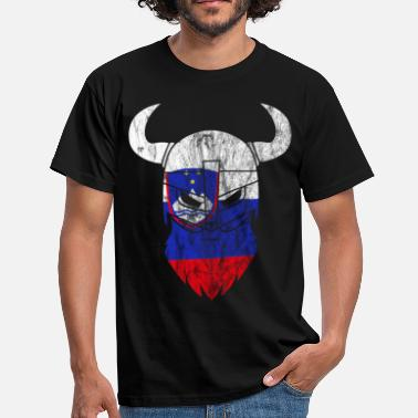 Slovenia Flag Slovenia Vikings flag - Men's T-Shirt