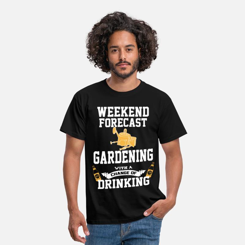 Horticulture T-Shirts - Gardening With A Chance Of Drinking - Men's T-Shirt black