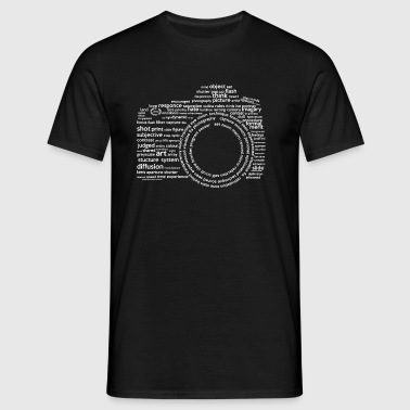 Camera Typography White - Men's T-Shirt