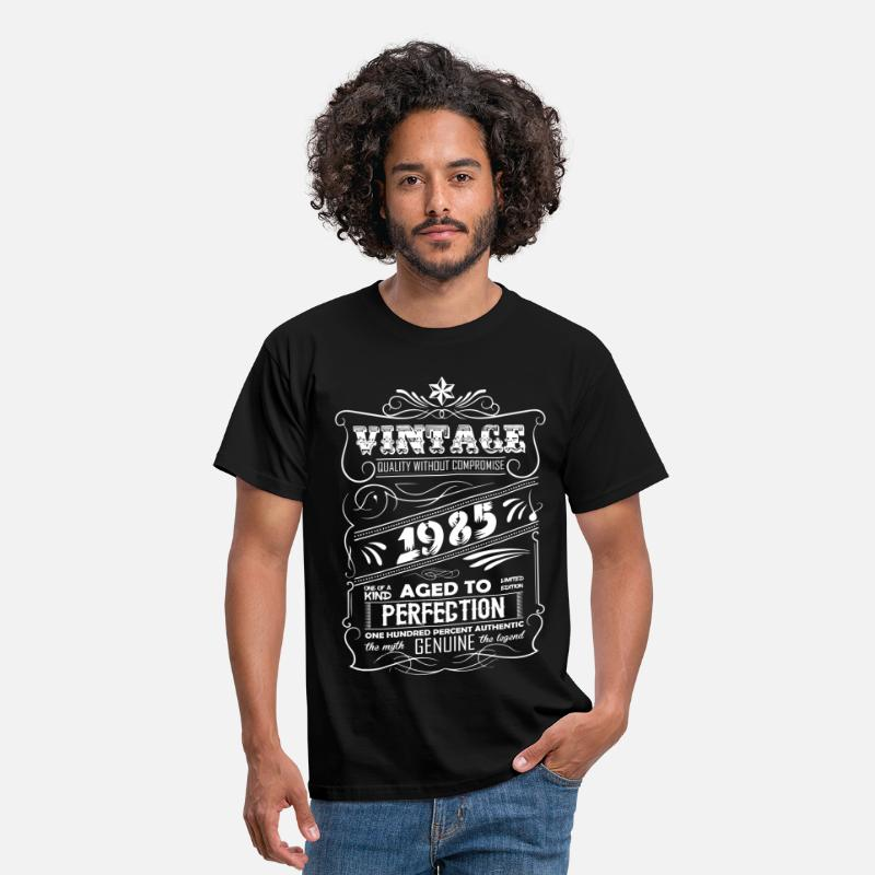 1985 T-Shirts - Vintage Aged To Perfection 1985 - Men's T-Shirt black