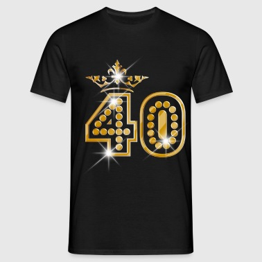 40 - Birthday - Queen - Gold - Burlesque - T-shirt herr