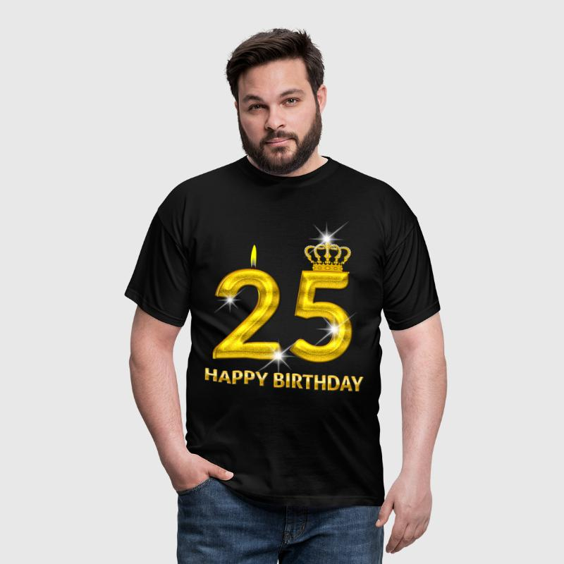 25-happy birthday - birthday - number gold - Men's T-Shirt