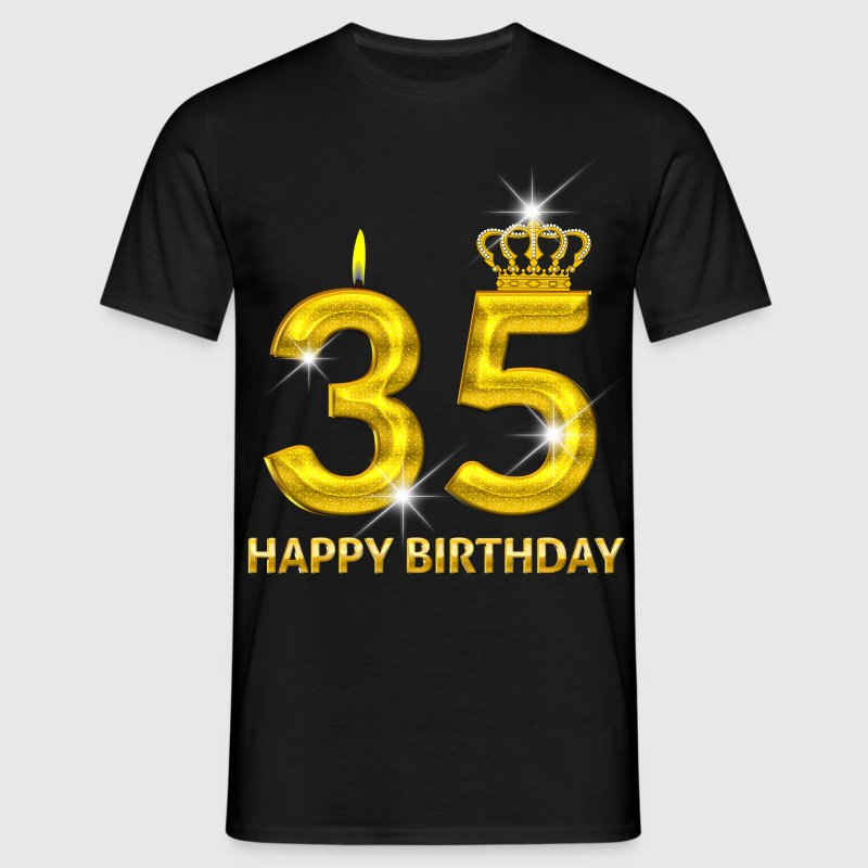 35 - happy birthday - birthday - number gold - Men's T-Shirt