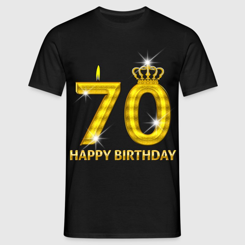 70 - happy birthday - birthday - number gold - Men's T-Shirt