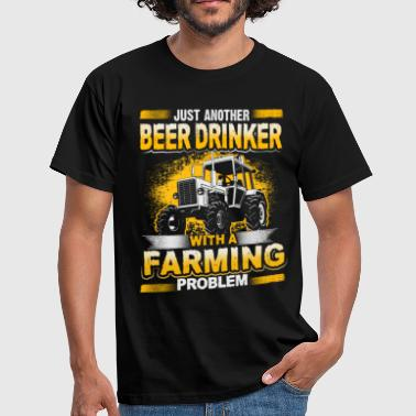 Beer Drinker - Farming Problem - EN - Mannen T-shirt
