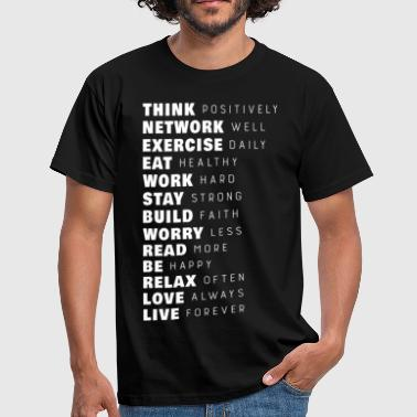 Motivational Gym Think Positively - Men's T-Shirt