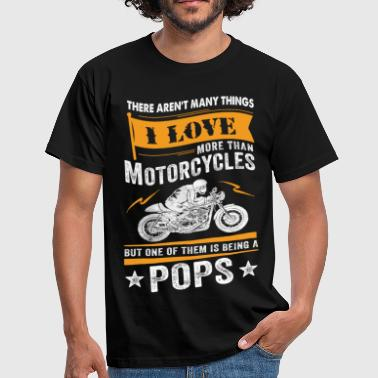 Pops Motorcycles Pops - Men's T-Shirt