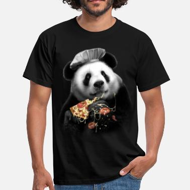 Funny Panda PANDA PIZZA - Men's T-Shirt