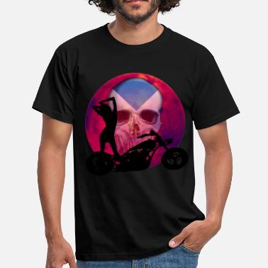 Scottish Biker Biker Sexy Chop Skull Scotland - Men's T-Shirt