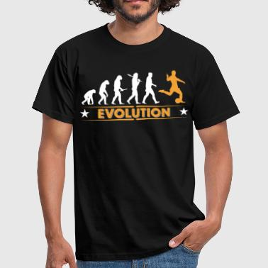 Football evolution - orange/white - Men's T-Shirt
