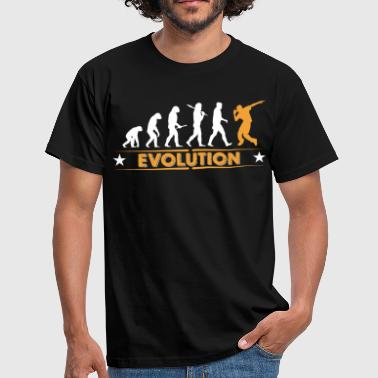 Hip Hop HipHop break dance evolution - orange/white - Men's T-Shirt