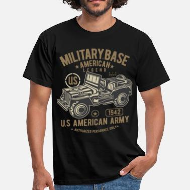 Militaire MILITAIRE JEEP OFFROAD - US Army Jeep Shirt Design - Mannen T-shirt