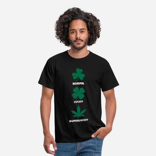 Cannabis T-Shirts - Normal Lucky Super Lucky - Men's T-Shirt black