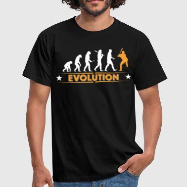 Baseball Evolution - orange/weiss - Mannen T-shirt