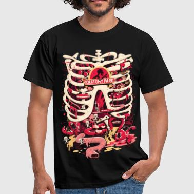 Rick And Morty Anatomy Park Skeleton - Men's T-Shirt
