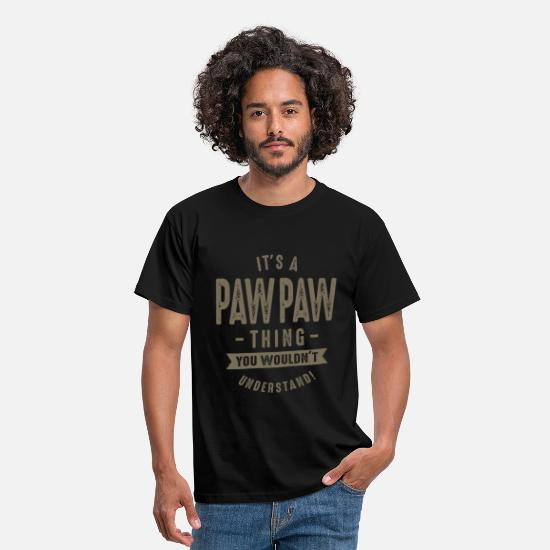 Father's Day T-Shirts - It's a Paw Paw Thing - Men's T-Shirt black