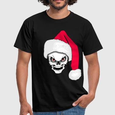 skull happy christmas 02 - Men's T-Shirt