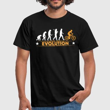 Bike Evolution Mountain bike evolution - orange/white - Men's T-Shirt