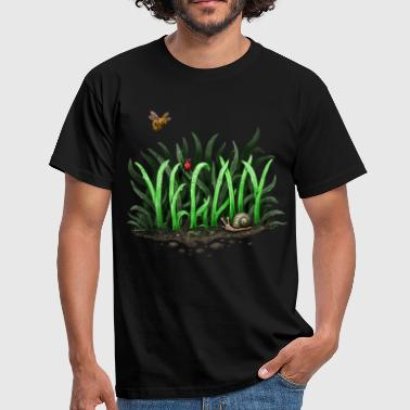 Grow Vegan - Männer T-Shirt