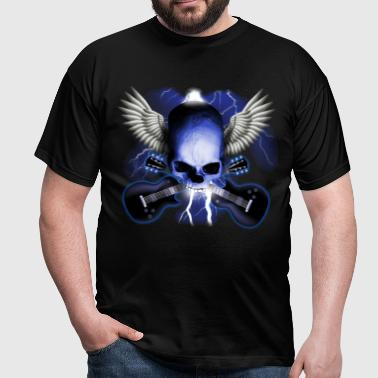 skull_and_wings_and_guitars - Camiseta hombre