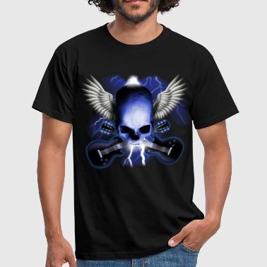 Heavy skull_and_wings_and_guitars - Camiseta hombre