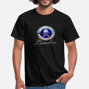 Rat Bike Retro Rat Chrome blue - Men's T-Shirt