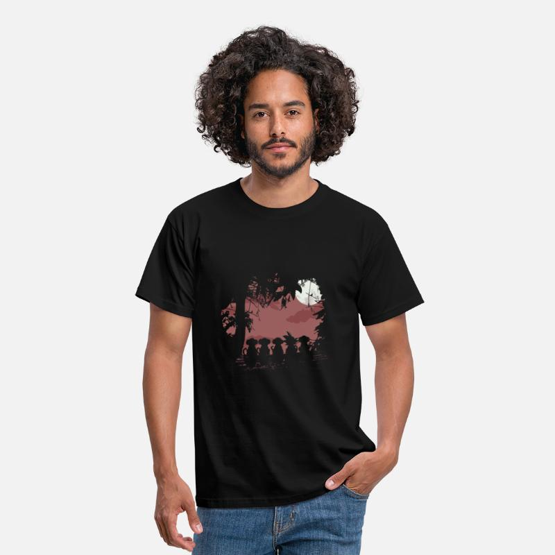 Geek T-shirts - Fours monkeys and one legend - T-shirt Standard Homme noir