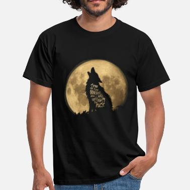 Slogan Throw me to the Wolves - Men's T-Shirt