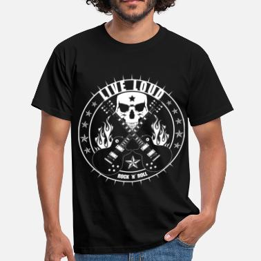 Live Loud Rock ´n´ Roll - Männer T-Shirt
